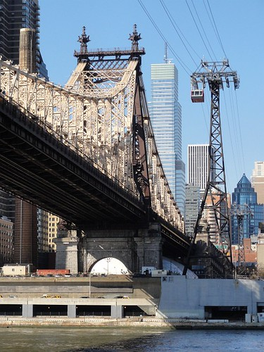 Queensboro Bridge and Roosevelt Island Tramway New York City