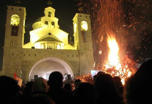 Orthodox Christmas, Podgorica, Montenegro
