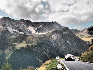 イタリア北部の山中で