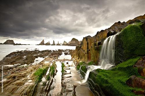 de atardecer asturias playa paisaje cantábrico gueirua españaplayas luismmolinaphotography© aguadulceengueirua