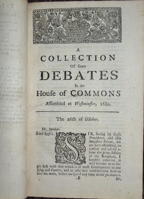 Debates of Parliament 1716 - Collected Debates