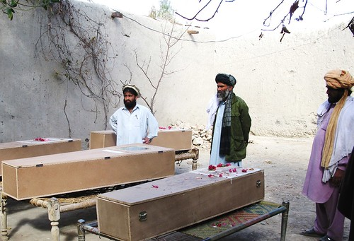 Victims of drone attacks readied for burial in Miranshah, North Waziristan.