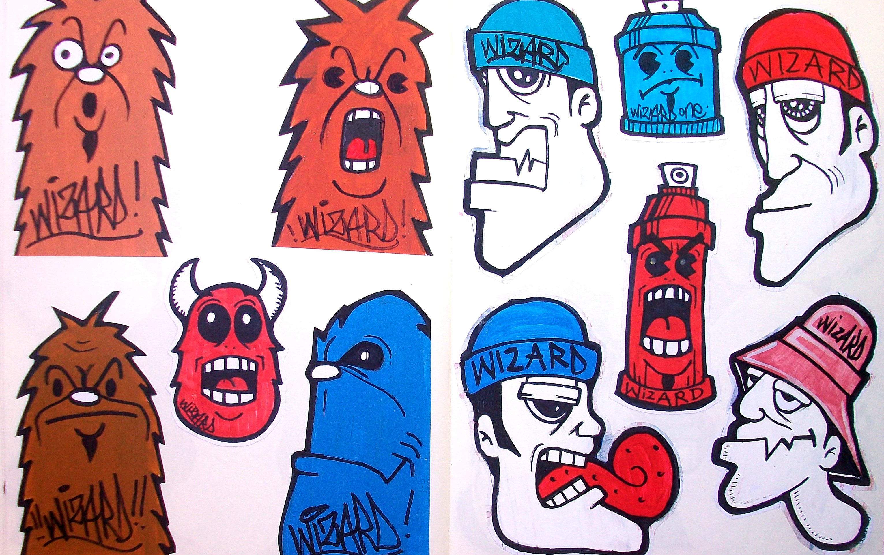 Graffiti Stickers By Wizard  Viewing Galle