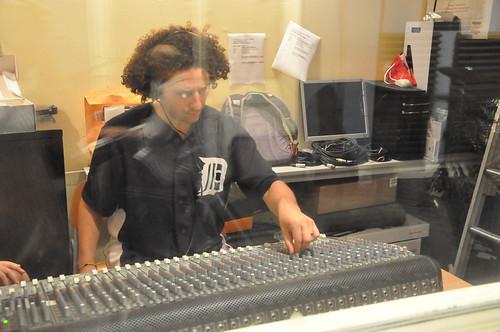 Seth Hitsky mixes live performances. Photo Kichea S Burt