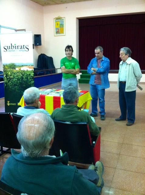 A la presentació dels nous mapes de les Muntanyes d'Ordal per @tsubirats i @editorialpiolet #JEP2012