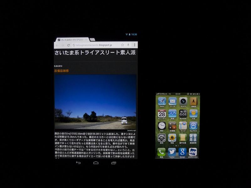 Nexus7とiPhone4S