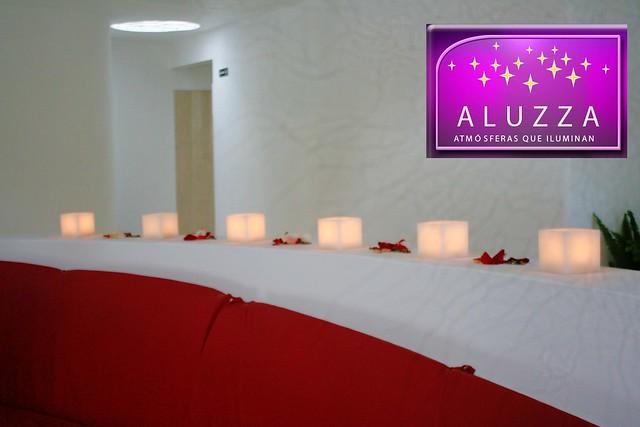 Pantalla de cera mediana para decoración de bodas, centros de mesa, mesa principal de boda y decoración de eventos en general aluzza