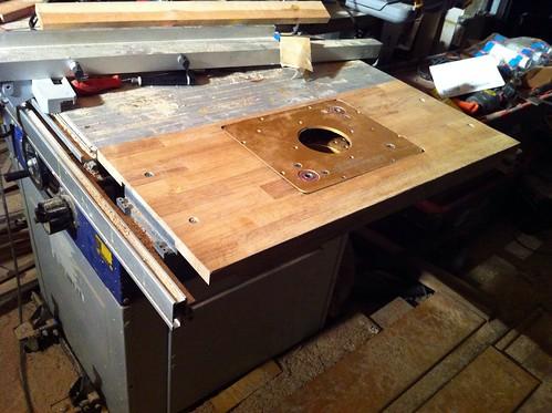 oberfr se im tischkreiss gentisch einbauen woodworker. Black Bedroom Furniture Sets. Home Design Ideas