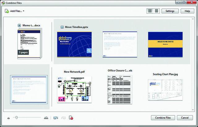 Adobe Acrobat XI - Combine Multiple Documents