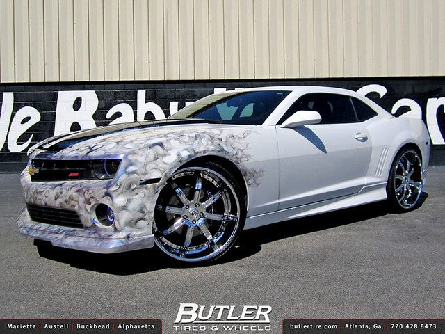 Chevy Camaro with 24in Asanti ELT406 Wheels