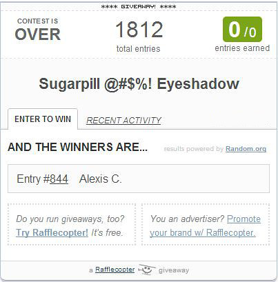 sugarpill winner