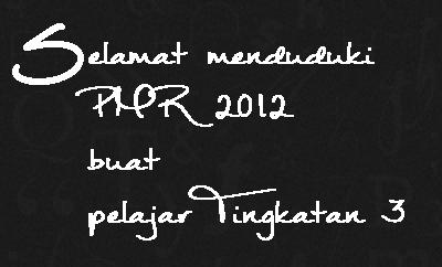 Selamat menduduki PMR 2012
