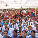 Nearly 5,000 men and women gathered to promote the rights of girls and education for all during UN Women Executive Director Michelle Bachelet's visit to the gram sabha in Barrod village of Rajasthan's Alwar district on 5 October