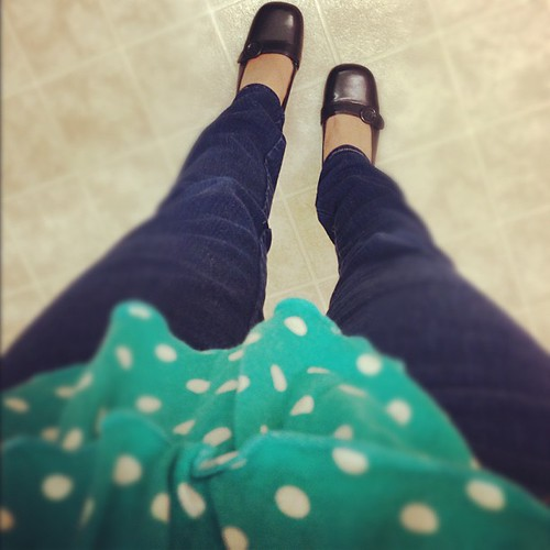 It's really about the shoes... #fromwhereistand #polkadots