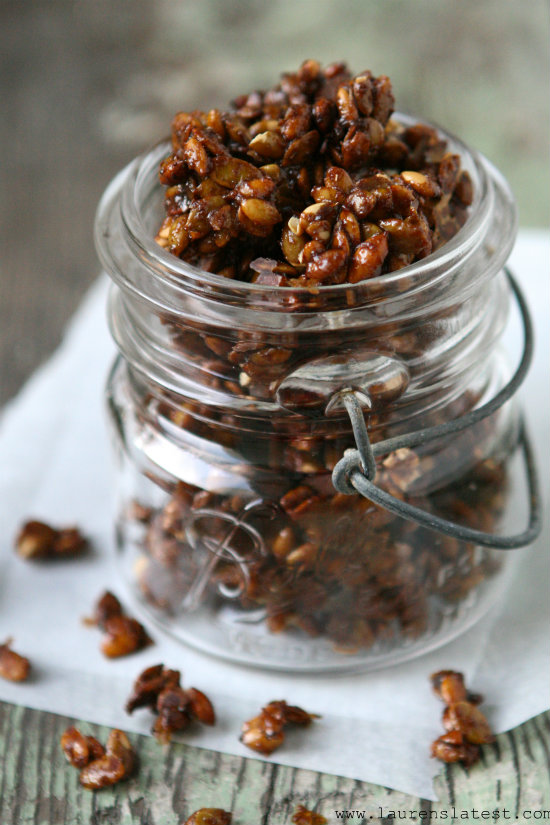 Pumpkin Spiced Candied Pepitas