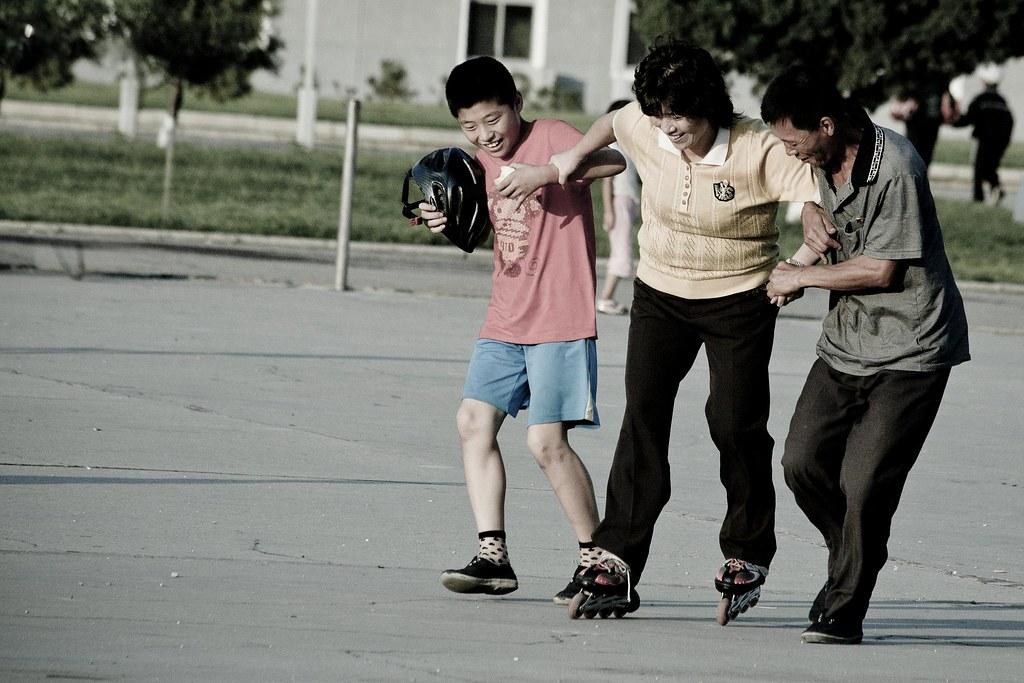 Learning to skate  Pyongyang, DPRK (North Korea) | Pyongyang… | Flickr