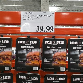 Success story -- from smeiiy food truck to gift card display at Costco. #bacon | by Gary Soup