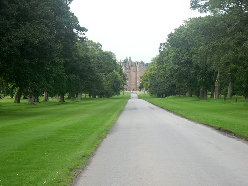 Glamis Castle distant