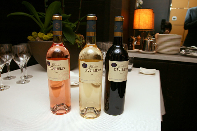 Pair the Provencal dinner menu with some wines (extra S$32)