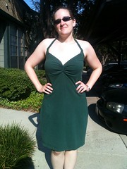 Green T-Shirt Dress Refashion
