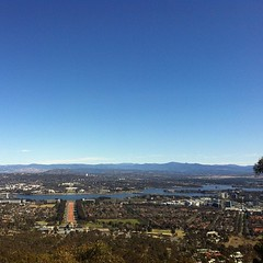 Canberra, Australia from Mt. Ainslie