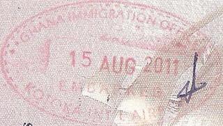Ghana Exit Stamp