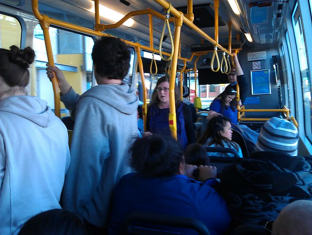 Crowded 903 bus, Sunday