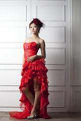 [フリー画像素材] 人物, 女性 - アジア, ワンピース・ドレス ID:201212091400