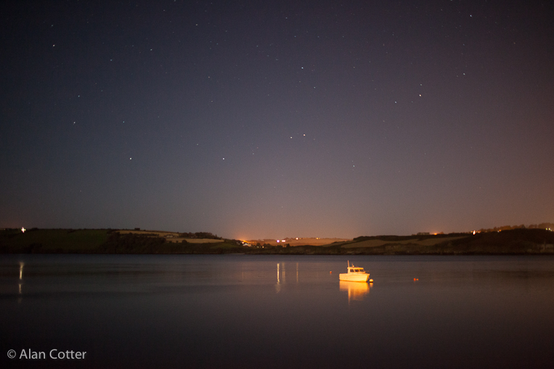 Stars in your eyes over Kinsale harbour.