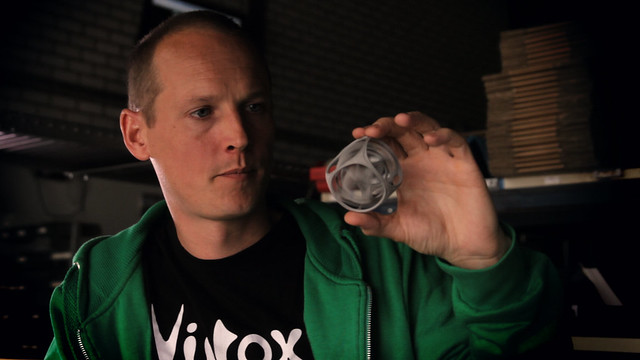 Virtox with his 3D Printed Gyro the Cube