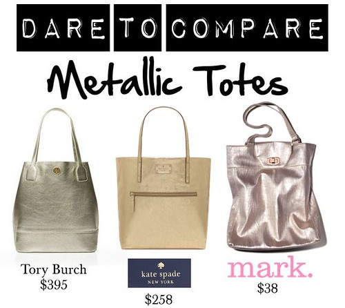 Livingaftermidnite : Dare to Compare : Metallic Totes