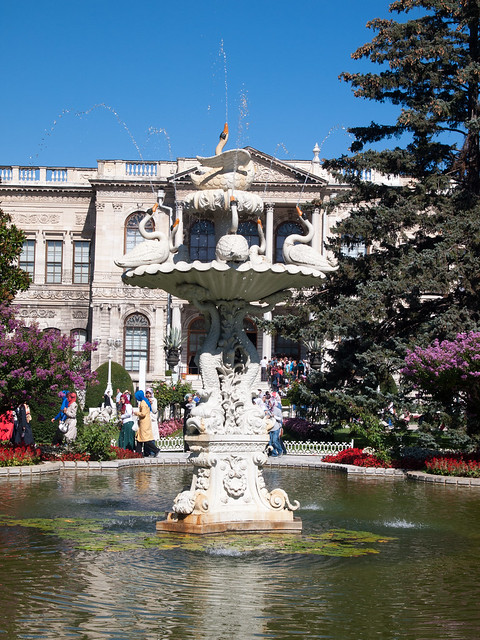 Fountain at Dolmabahce Palace