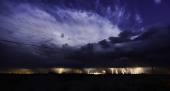 Lightning over Hobbs New Mexico