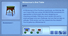 Wickerman's End Table