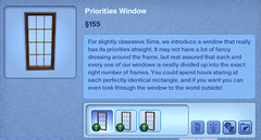 Priorities Window