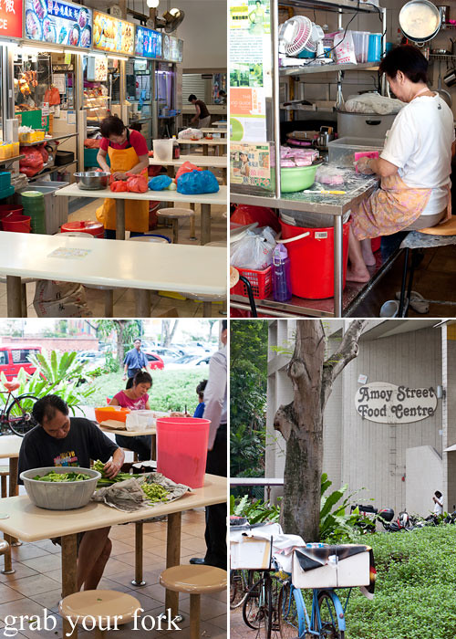 hawker stalls at amoy street food centre singapore