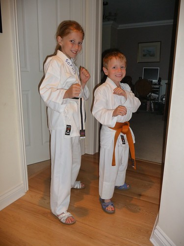 White belt senior and Gold belt