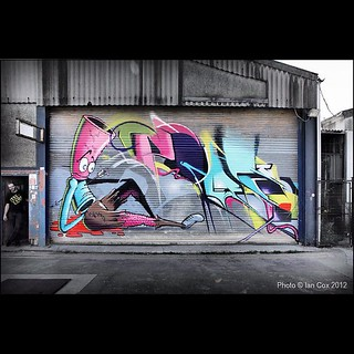 Campus Skatepark in Bedminster. Love the shutter painted by 3Dom and Epok #streetart #graffiti #campus #wallkandy #bristol #bedminster #skatepark