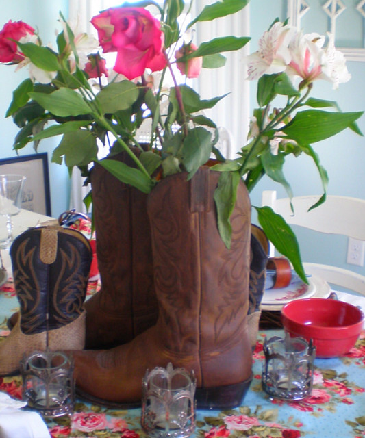 Cowboy Boot Centerpiece The Style Sisters