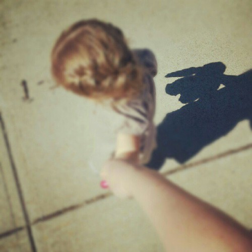 Shadow of a very loved bunny.
