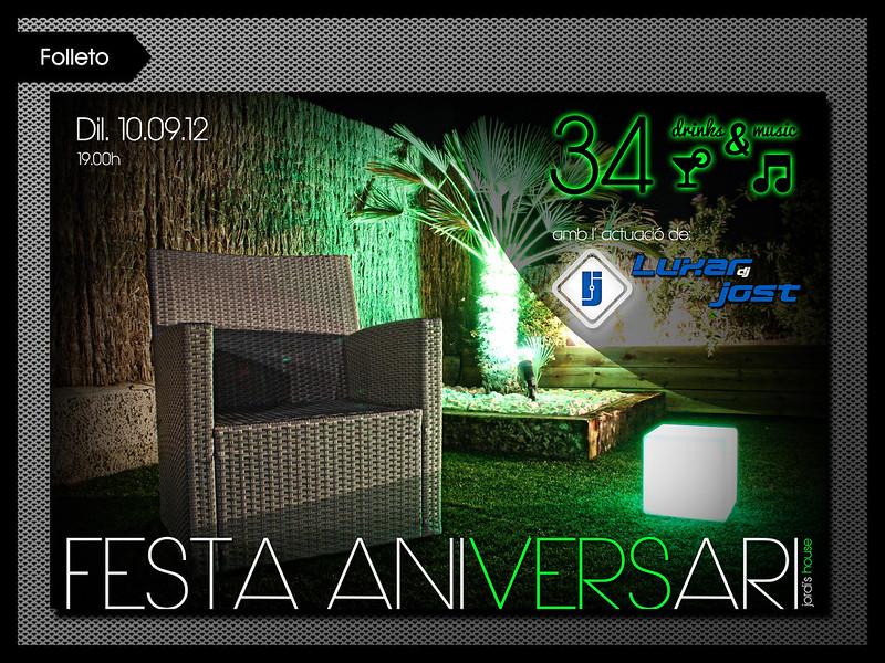Flyer Invitación para Dj Luxar Jost
