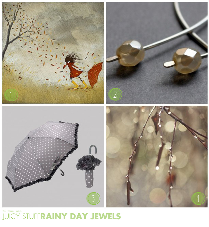 {juicy stuff} rainy day jewels