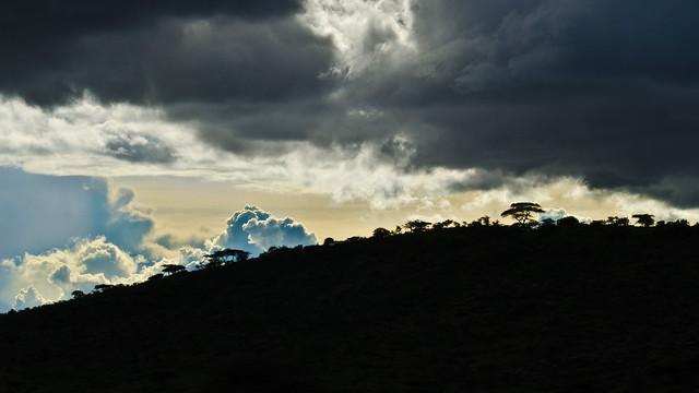 Meru Hill Silhouette