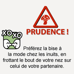 Prudence : les bisous !