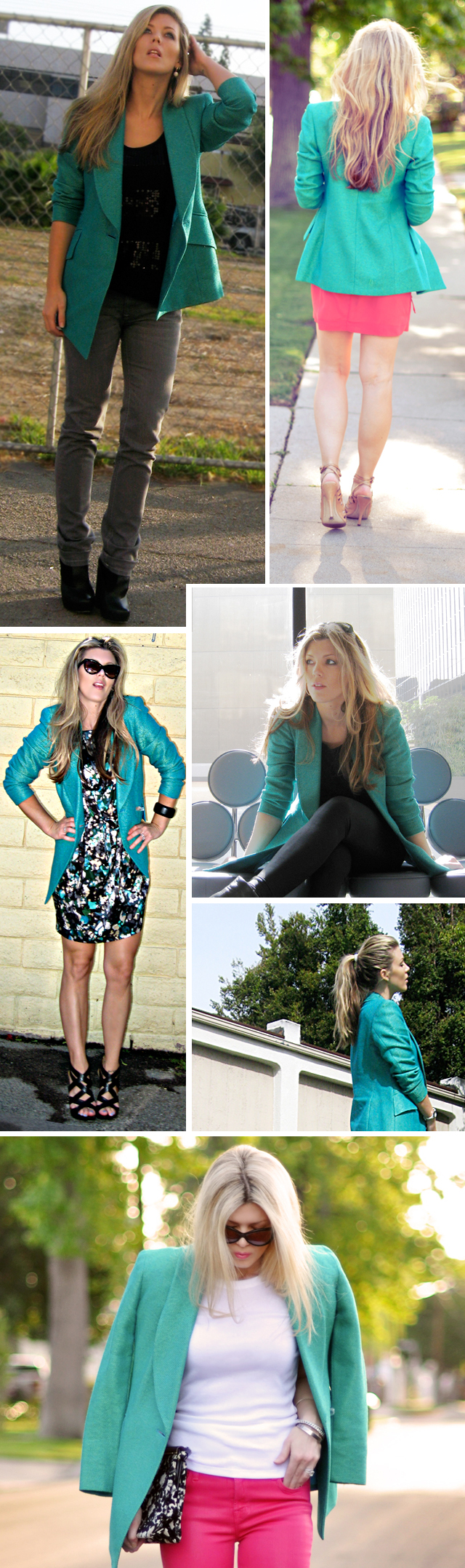how to wear a bright blazer
