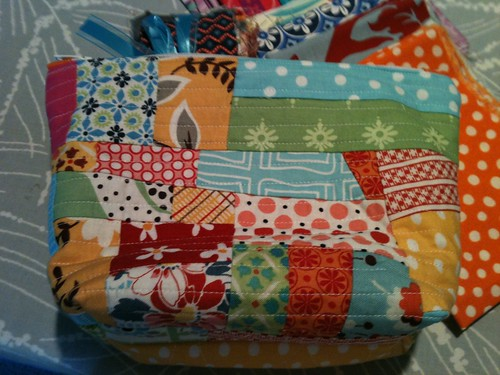 Scrappy pouch from Lori