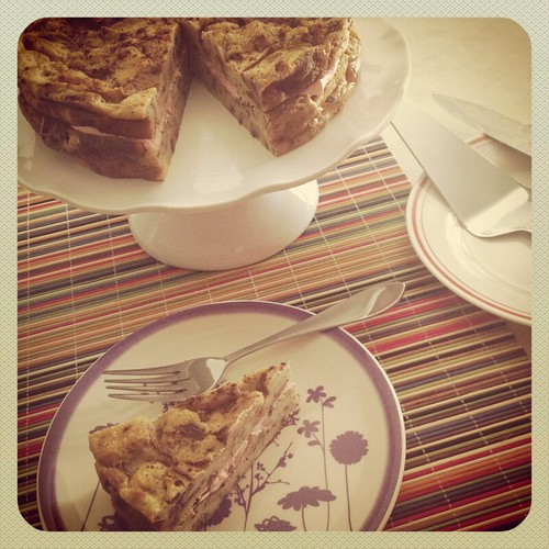 Bread Pudding Cake by Heather Says