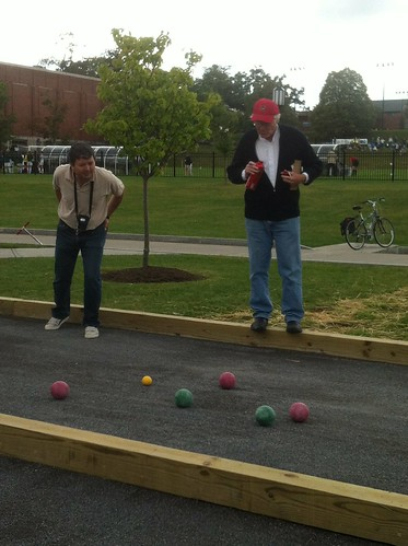 HWS Bocce: Sebastiano Lucci and Stan Mathews judge a close one. by Michael Tinkler