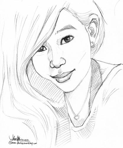 lady portrait in pencil (simple sketch)