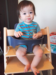 Alan in his new chair